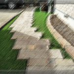 朽ちてきた枕木歩道をリニューアル ガーデニングリフォーム
