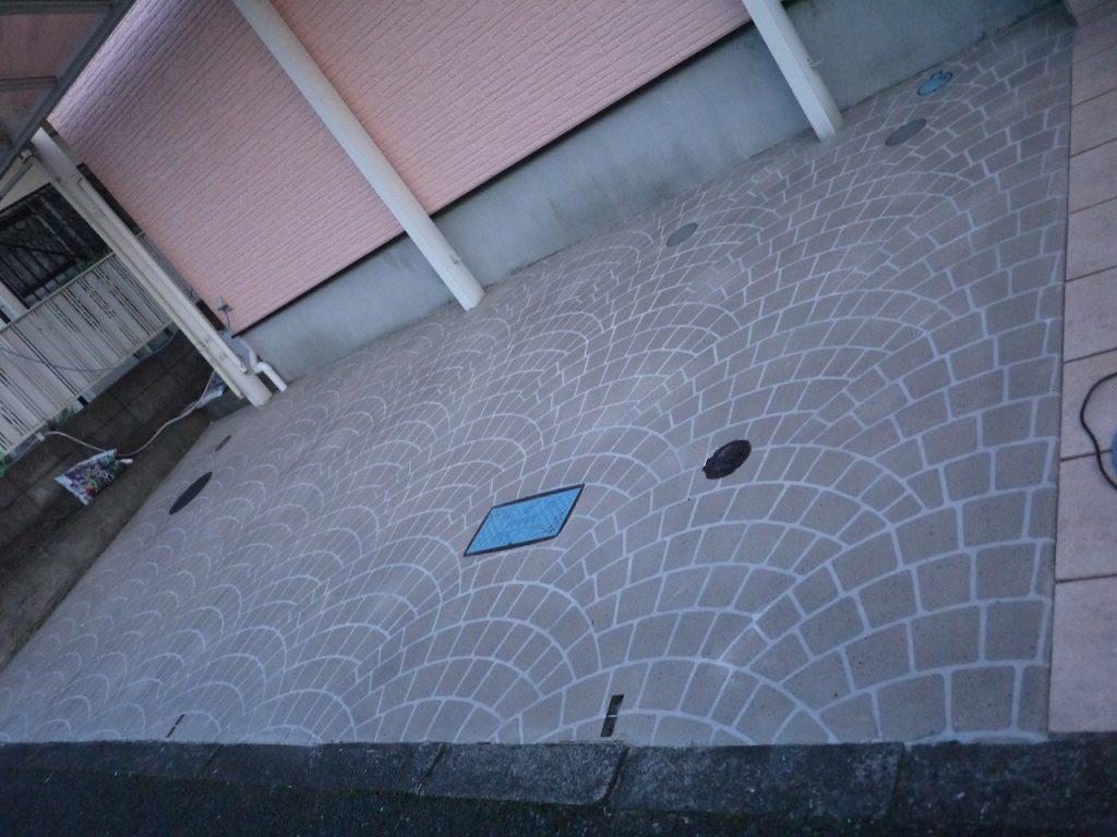 スタンプコンクリート, スプレーコンクリート