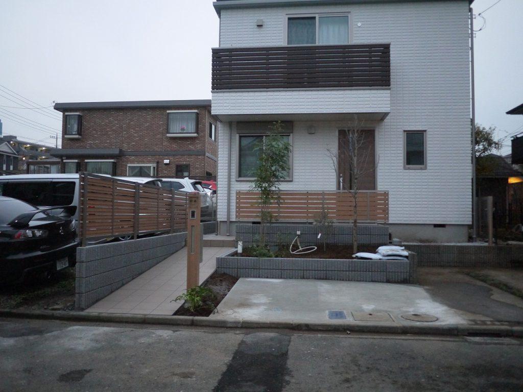 新築外構工事施工例(神奈川県):ガーデニングリフォーム